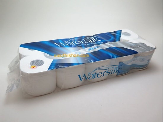 Giấy vệ sinh watersilk 10 cuộn