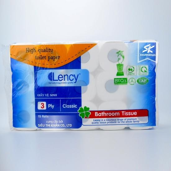 Hình ảnh của Giấy vệ sinh Lency 15 cuộn 3 lớp