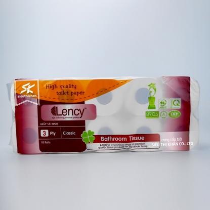Giấy vệ sinh Lency 10 cuộn 3 lớp