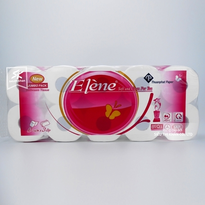 Giấy vệ sinh Elene 10 cuộn 3 lớp có lõi