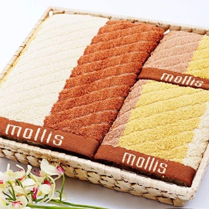 Hình ảnh của Bộ rổ tre khăn quà tặng Mollis - P606