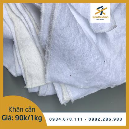 Khăn lau cân 100% cotton màu trắng - KC06 [ Khăn lau vệ sinh nhà cửa]
