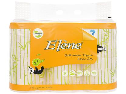 Giấy vệ sinh tre Elene 6 cuộn 3 lớp có lõi